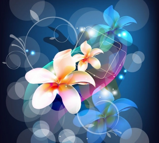 Free abstract background with flower vector art Free Vector