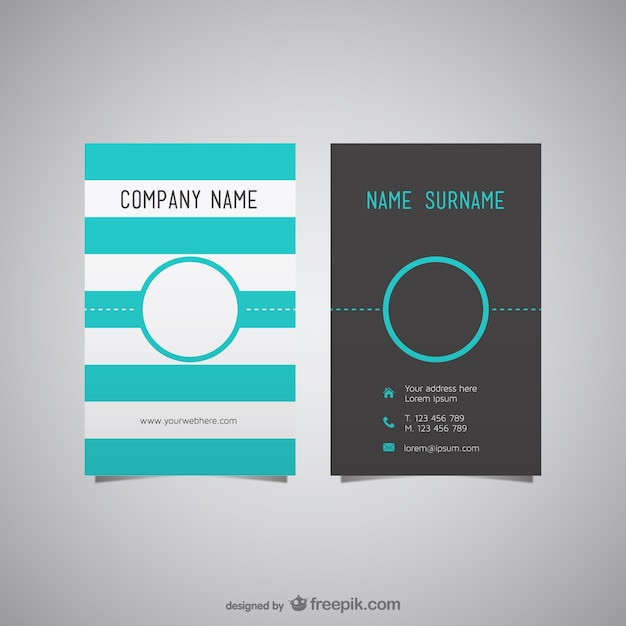 Free business card layout vector Free Vector