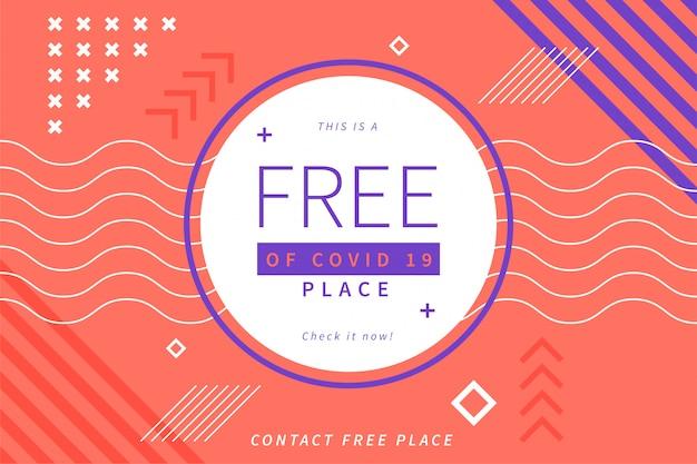 Libero di covid19 posto sfondo Vettore gratuito