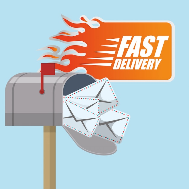Free delivery design Premium Vector