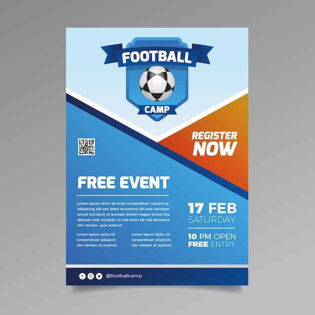 Free event sport flyer template Free Vector