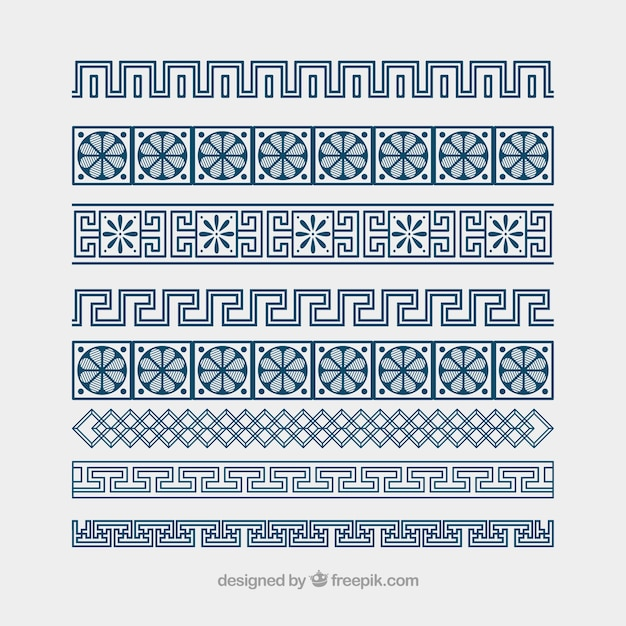 Free greek vector ornament meander borders Vector | Free Download