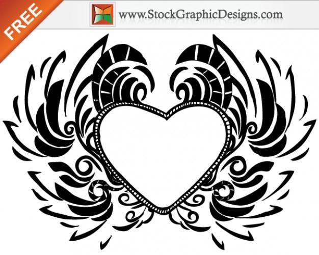 Line Art Valentine : Free hand drawn valentine's day love heart vector download