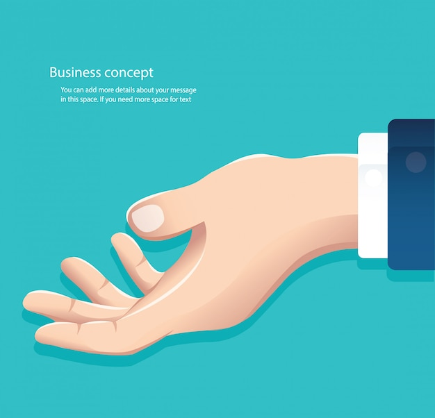 Free hand ready to holding something vector Premium Vector