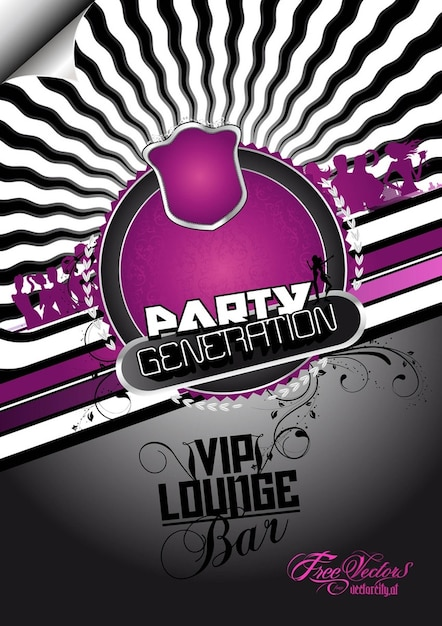 Free Party Flyer Background Vector | Free Download