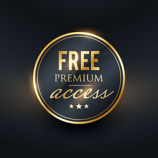 Free premium access golden label design Premium Vector