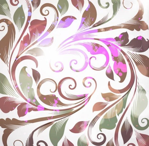 Free retro floral background vector illustration