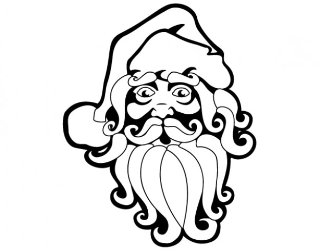 Free santa claus vector clip art Free Vector