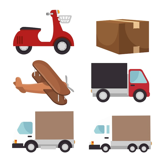 Free shipping delivery Free Vector