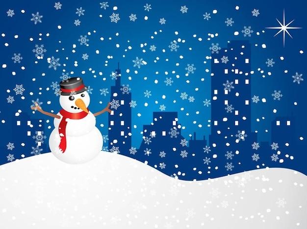 free snowman vector art vector free download