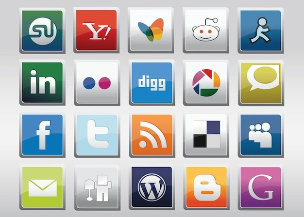 Free Social Media Vector Icons Free Vector