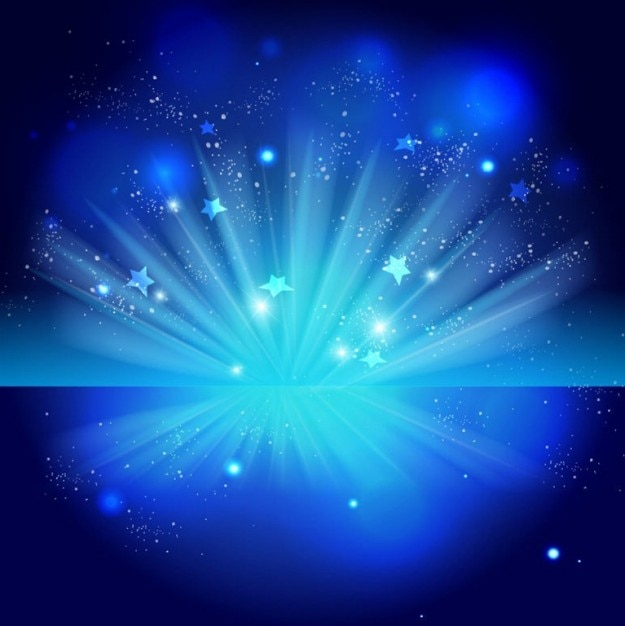 Free sparkling stars on blue night background Free Vector