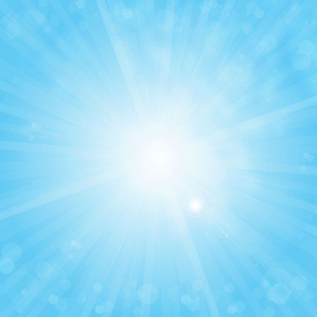 free sun on blue sky vector background Free Vector