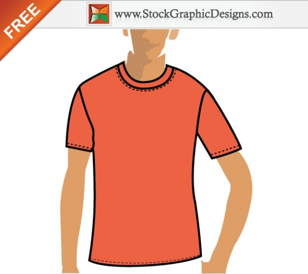 Free Vector Orange T shirt Design Template Vector | Free Download