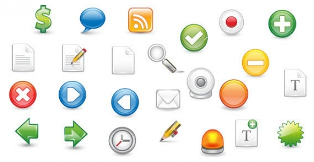 Free web 20 icons vector free download free web 20 icons free vector sciox Choice Image