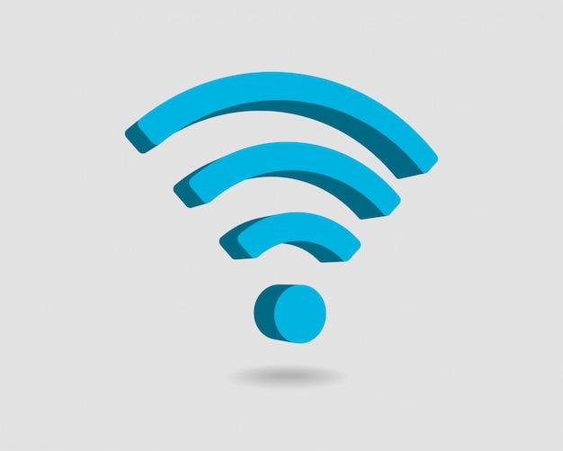 無料のwi fiアイコン、接続ゾーンwifiシンボル、電波信号。 Premiumベクター