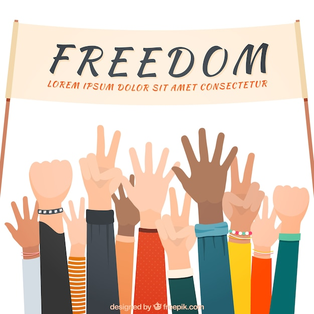 Freedom background Free Vector