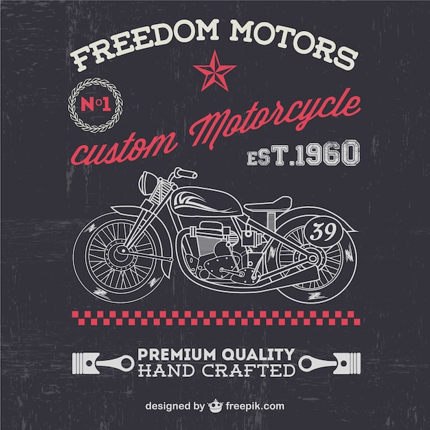 Freedom motors poster Free Vector