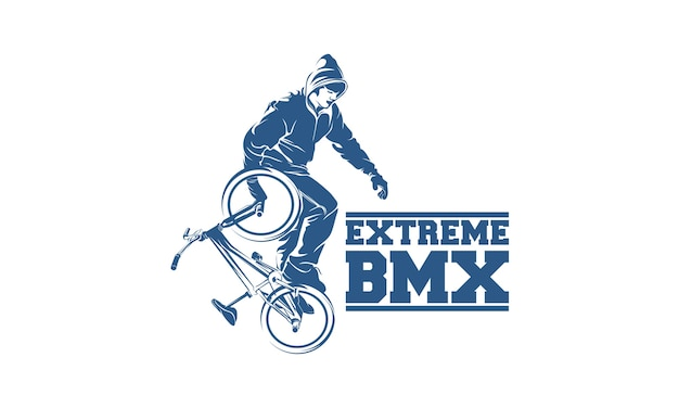 freestyle bmx logo design template vector premium download