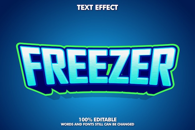Freezer text effect for esport logotype Free Vector