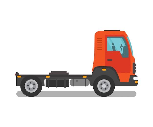 Freight truck, semi truck, cab vector illustration Premium Vector