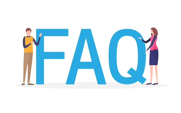 Frequently asked questions Premium Vector