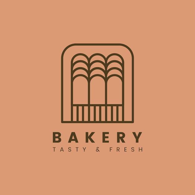 Fresh bakery pastry shop logo vector Free Vector