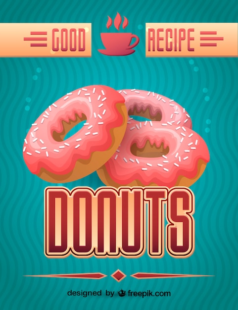 Fresh donut design Free Vector