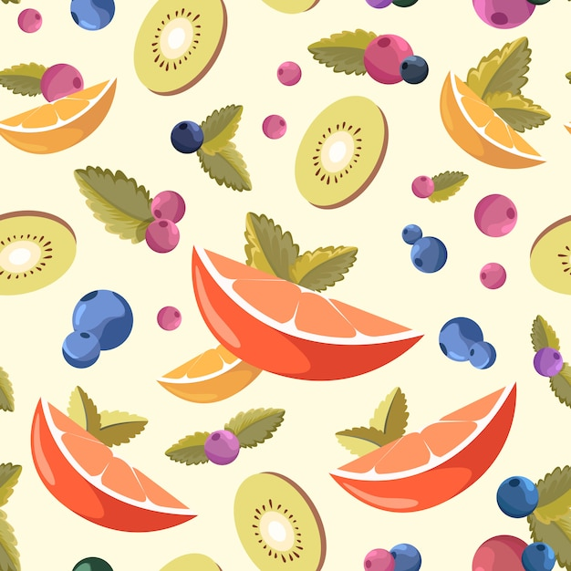 Fresh fruit background Free Vector