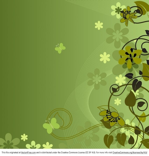 Fresh green flowers summer background
