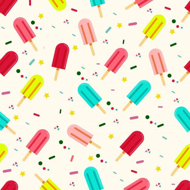 Summer Ice Cream Wallpaper: Fresh Ice Cream Stick In Summer Wallpaper Vector