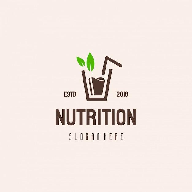 Fresh juice logo design, nutrition logo Premium Vector