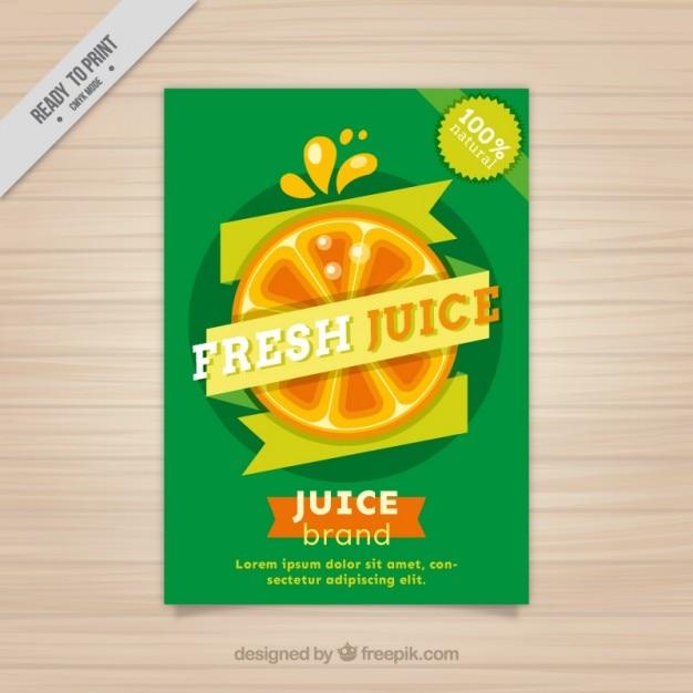 Fresh juice poster Free Vector