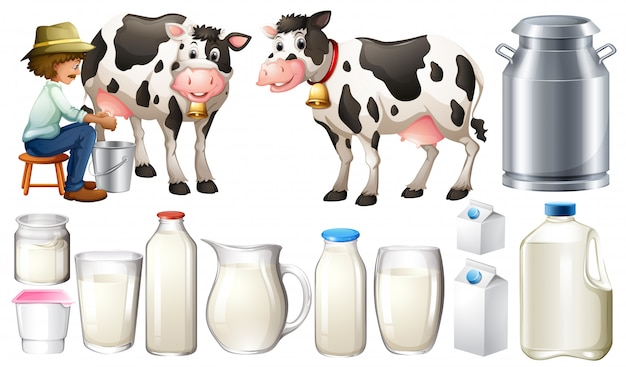 Fresh milk Free Vector