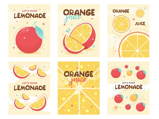 Дизайн плакатов свежий апельсиновый лимонад. напиток, напитки, кафе Бесплатные векторы