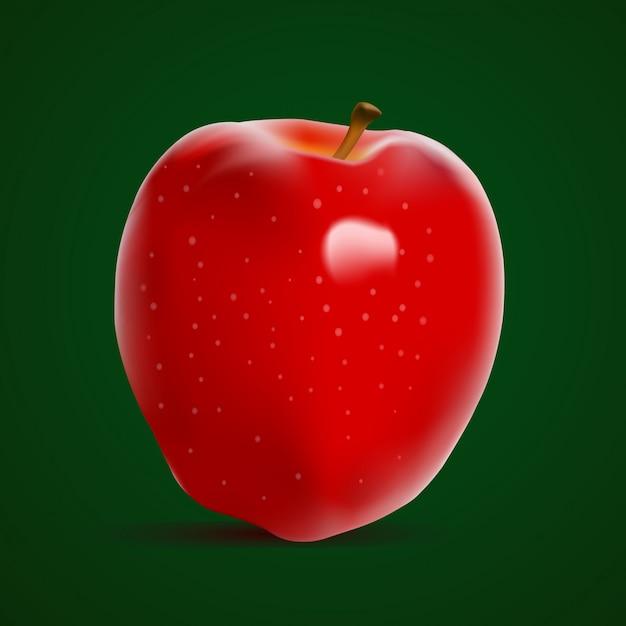 신선한 빨간 사과 프리미엄 벡터