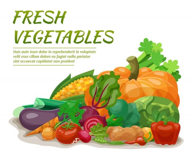 新鮮な野菜のイラスト 無料ベクター