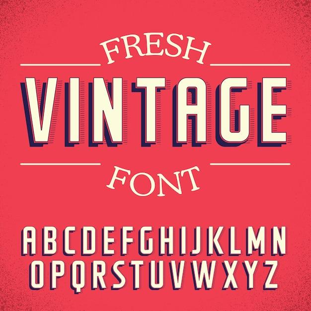 Poster di carattere vintage fresco Vettore gratuito