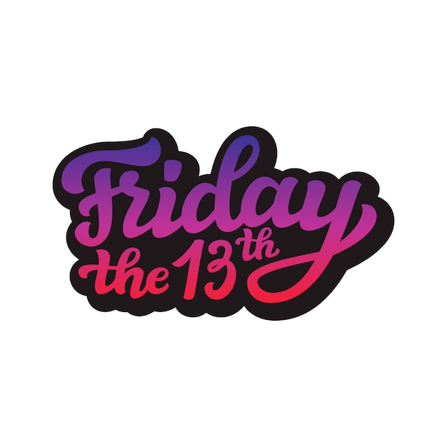 Friday the 13th. vector calligraphy Premium Vector
