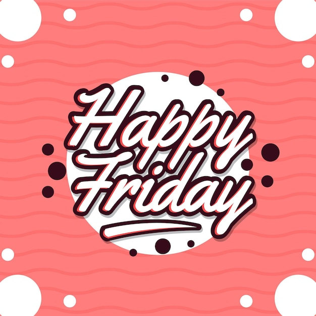 Friday background with dots and circles Free Vector