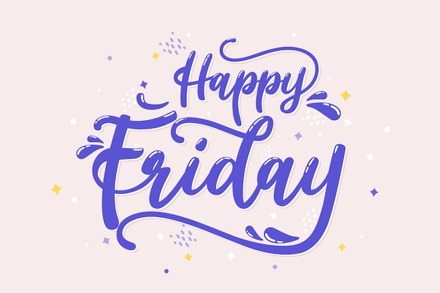 Friday background with lettering Free Vector