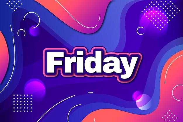 Friday background with liquid effect Premium Vector
