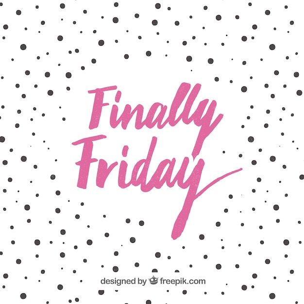 Friday background with polka dots Free Vector