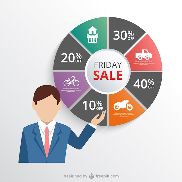Friday sale infographic Free Vector