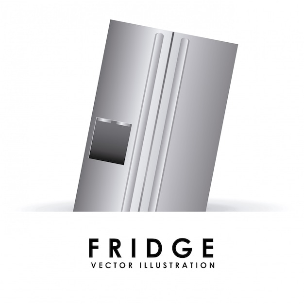 Fridge simple element Free Vector