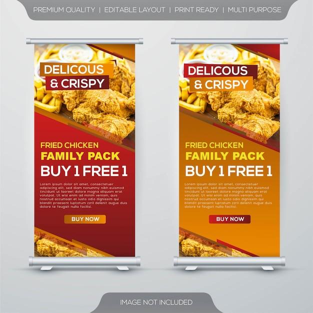 Desain Banner Fried Chicken