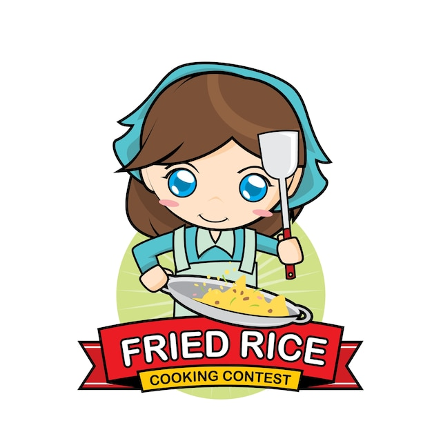Premium Vector Fried Rice Cooking Contest