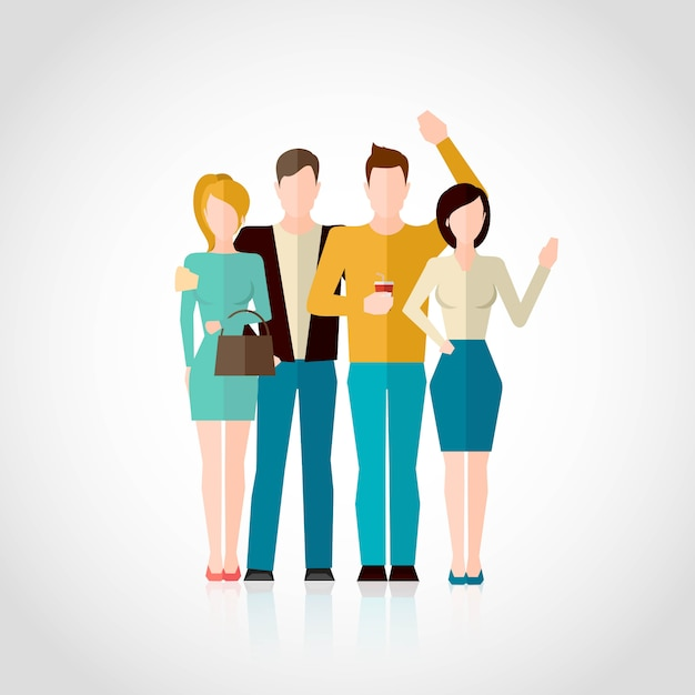 Friends flat illustration Free Vector