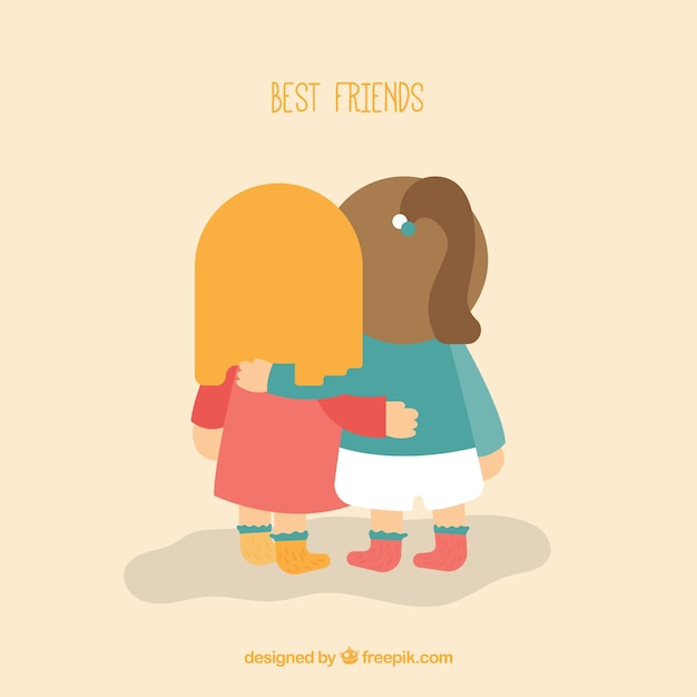 friends together background vector | free download