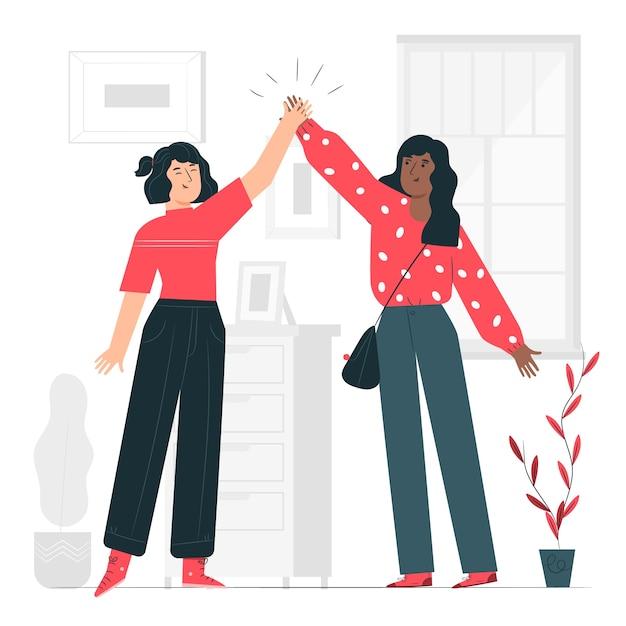Friendship concept illustration Free Vector